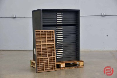 Hamilton Letterpress Typekit Cabinet - 050321113050