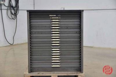 Hamilton Letterpress Typekit Cabinet - 050321115550