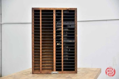 Hamilton Letterpress Typekit Cabinet