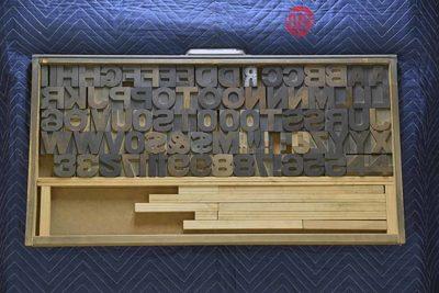 Letterpress Font Wood Type - 050421015134