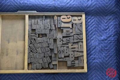 Letterpress Font Wood Type - 050421023811