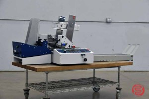 Rena Neopost T-650 Multi Side Tabbing Machine w/ Feeder and Delivery Conveyor - 050321091020