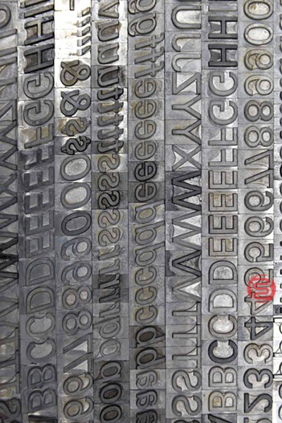 Assorted Letterpress Font Metal Type - 062821101630
