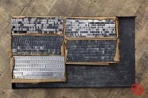 Assorted Letterpress Font Metal Type - 063021040305