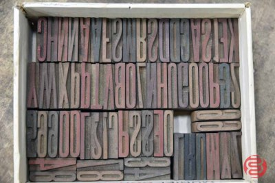 Assorted Letterpress Font Wood Type - 063021042819