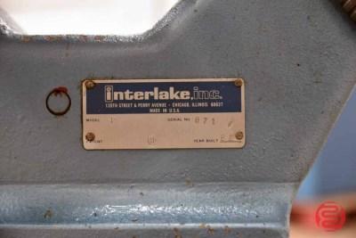1982 Interlake Model P Multiple Head Flat Book / Saddle Stitcher - 082621122946