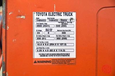 Toyota 7HBW23 Electric Pallet Jack - 083021023030