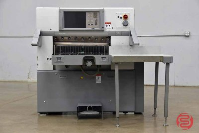2007 Polar 78X Programmable Paper Cutter w/ Air Table and Safety Lights - 092421102656