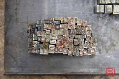 Assorted Letterpress Font Wood Type - 091421080130