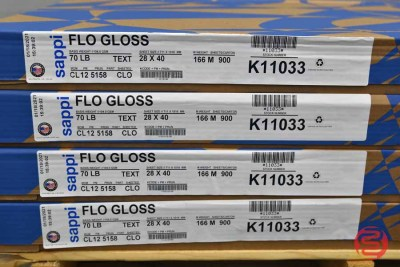 Sappi Flo Gloss 28 x 40 70lb Text Paper (7,200 Sheets 8 cartons) - 083121111823