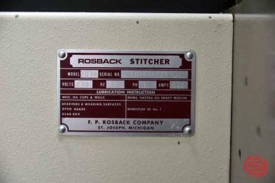 Rosback 203R Book Binding Saddle Stitcher - 093021105255
