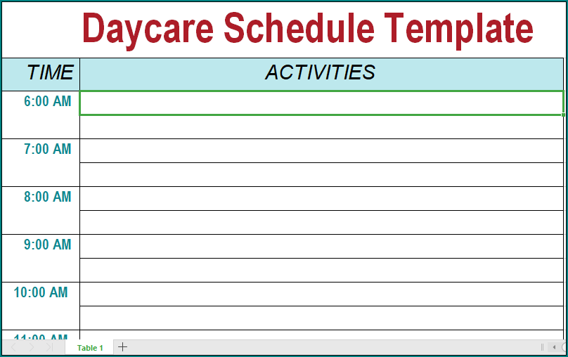 Its schedule management is the most challenging task overloaded with responsibilities. Preschool Daily Schedule Template Printable