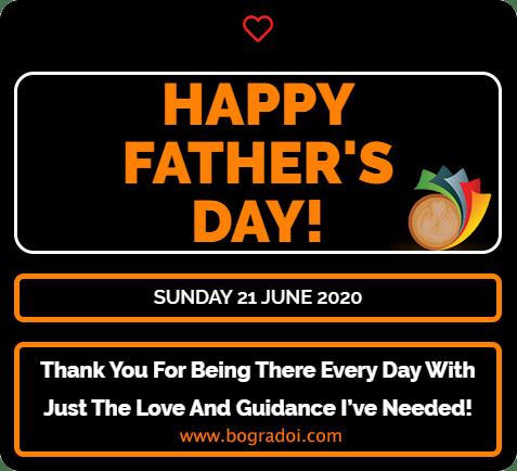 Happy Father's Day Bangladesh 2020 2021 Bogurar Doi