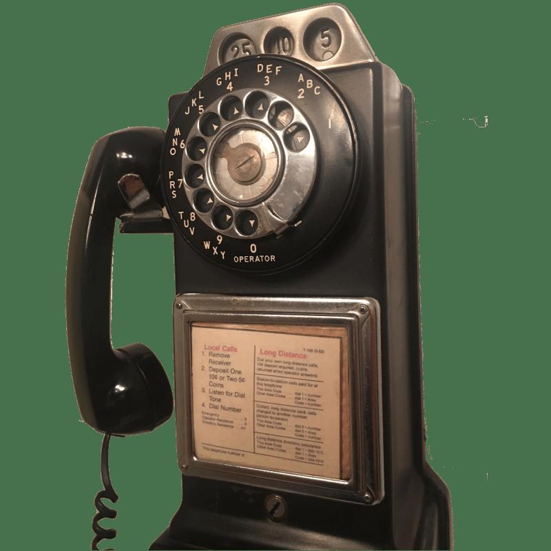 Telefono americano da muro originale