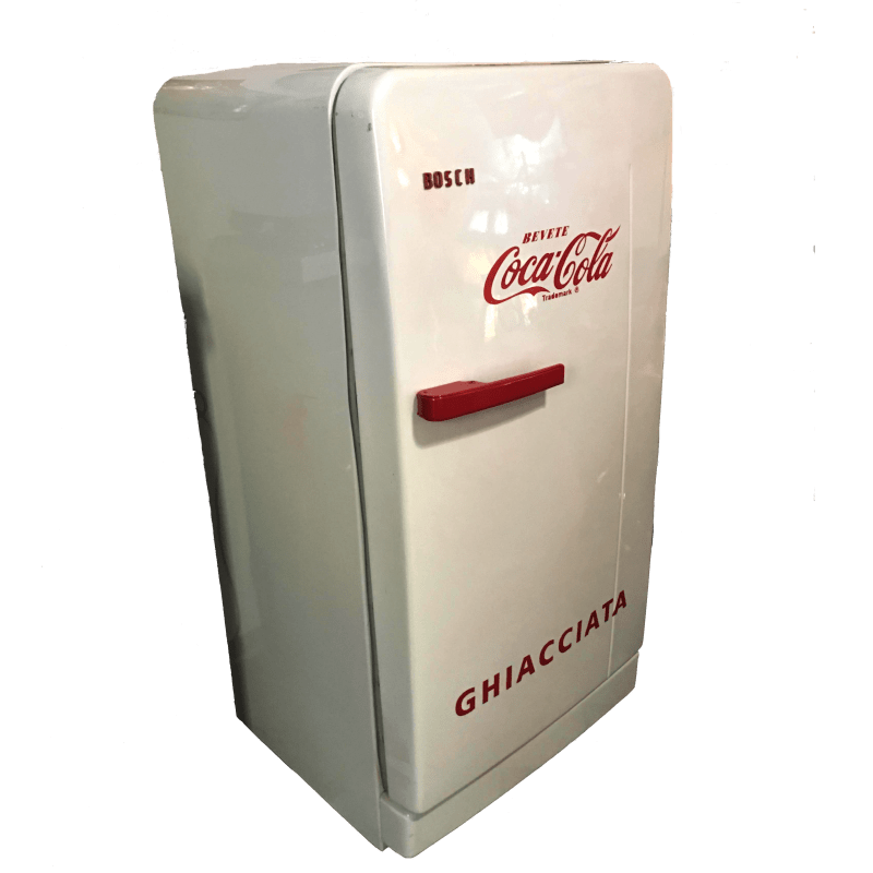 Frigo Bosch restaurato Coca Cola