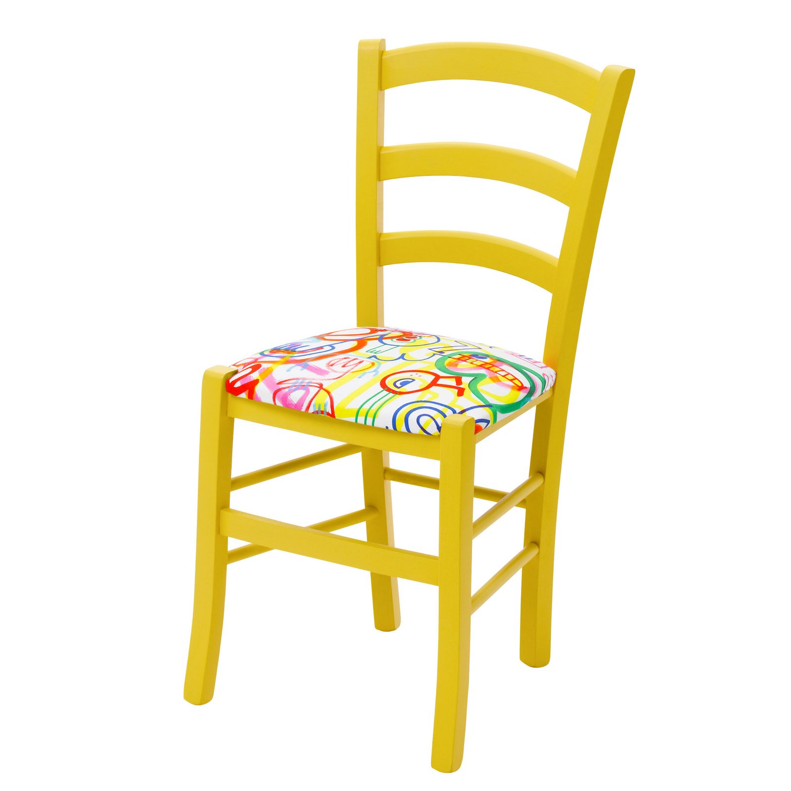 Yellow Kitchen Chairs Daisy in Yellow Doodles by Cheeky