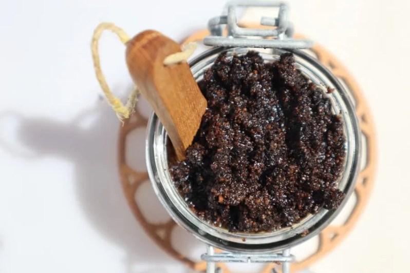Recept om zelf koffie scrub te maken