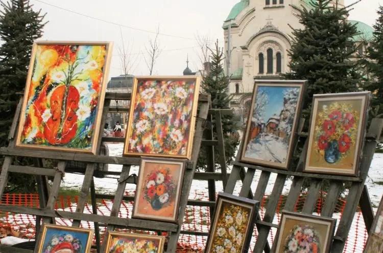 Markten in Sofia