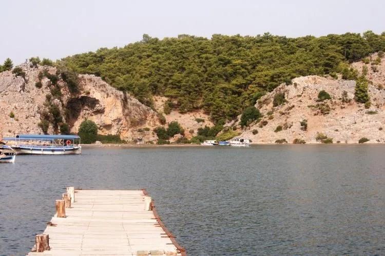 Het Iztuzu strand van Dalyan in Turkije