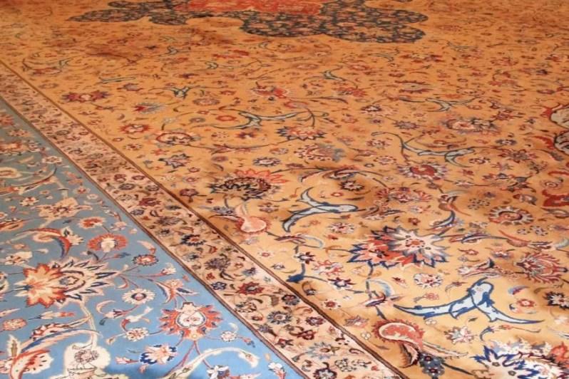 Tapijt in de grote moskee van Oman