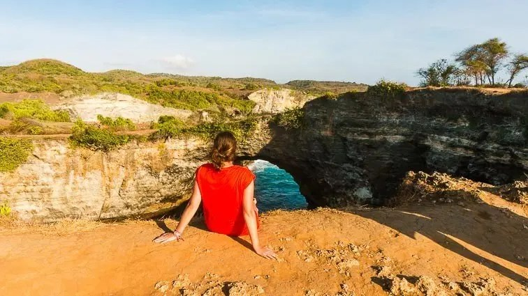 Nusa Penida in Indonesië met Kirsten