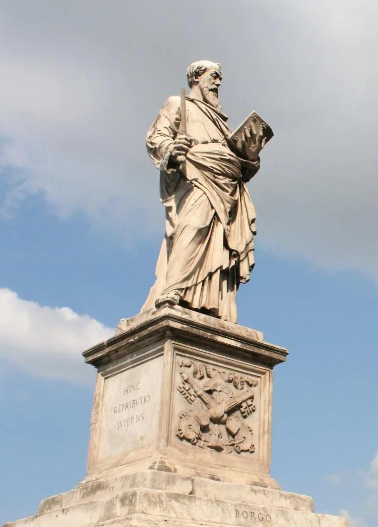 De Ponte Sant'Angelo van Rome