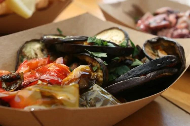 Heerlijk vis eten bij Comeilmare in de haven van Gaeta