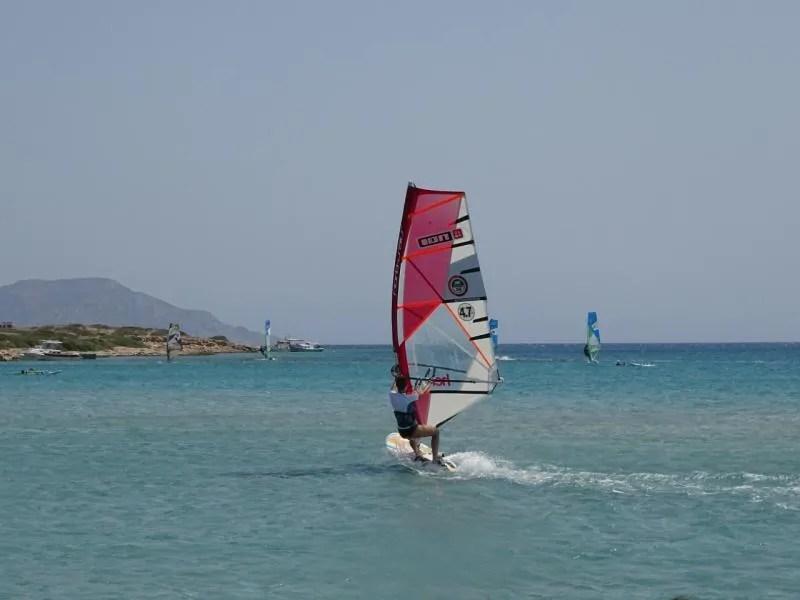 Windsurfen in Griekenland