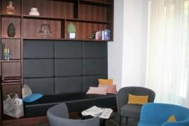 De lobby in Hotel Mrak in Ljubljana