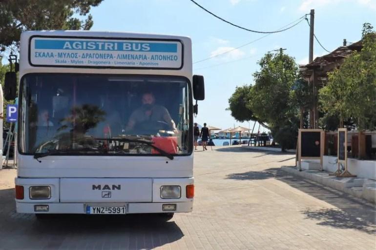De bus op Agistri
