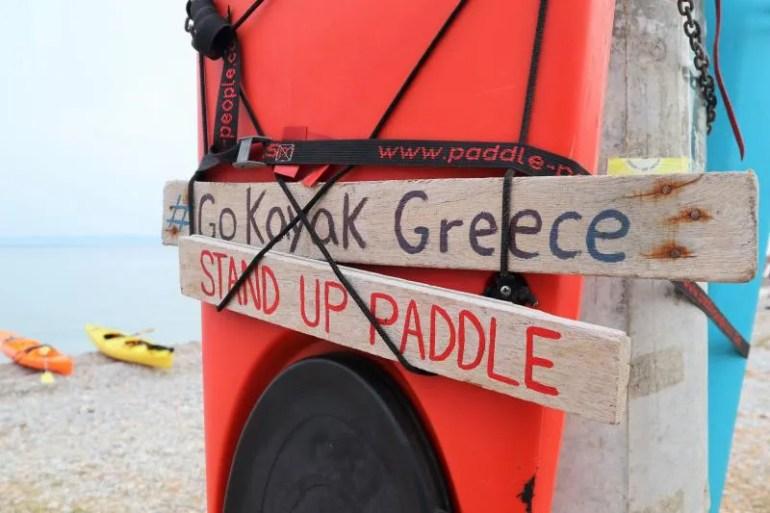 Zee kajakken op Agistri in Griekenland