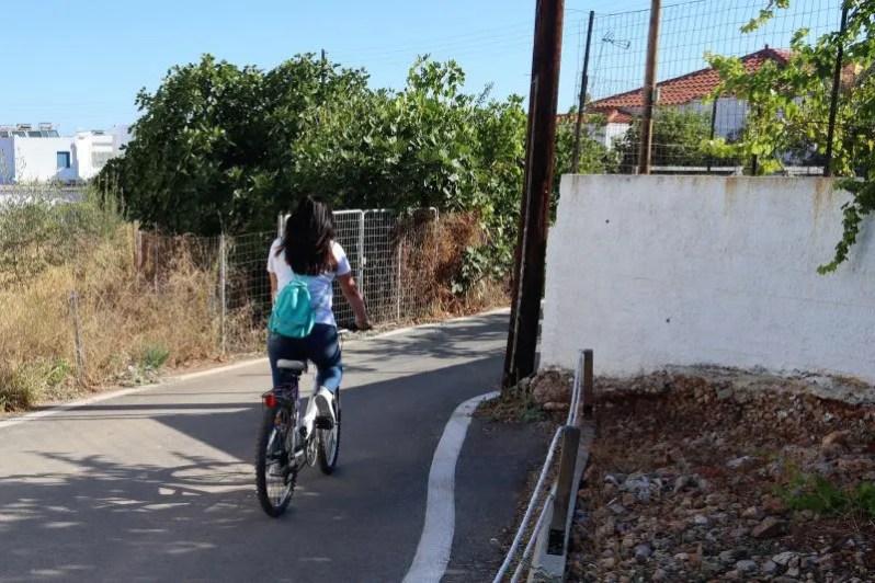 Mountainbiken op Agistri in Griekenland