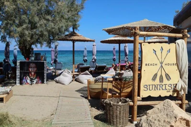 Strand op het eiland Agistri in Griekenland
