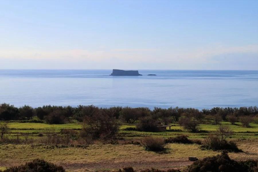Het eiland Flifla in Malta