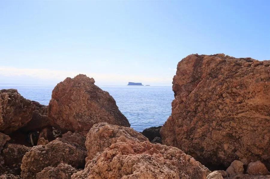 Uitzicht vanaf Ghar Lapsi
