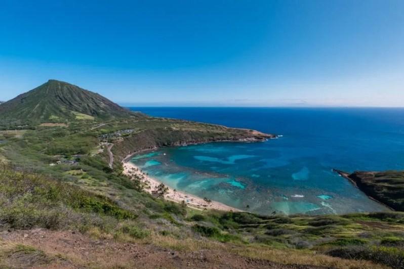 Natuurreservaat Hanauma Bay in Oahu, Hawaii
