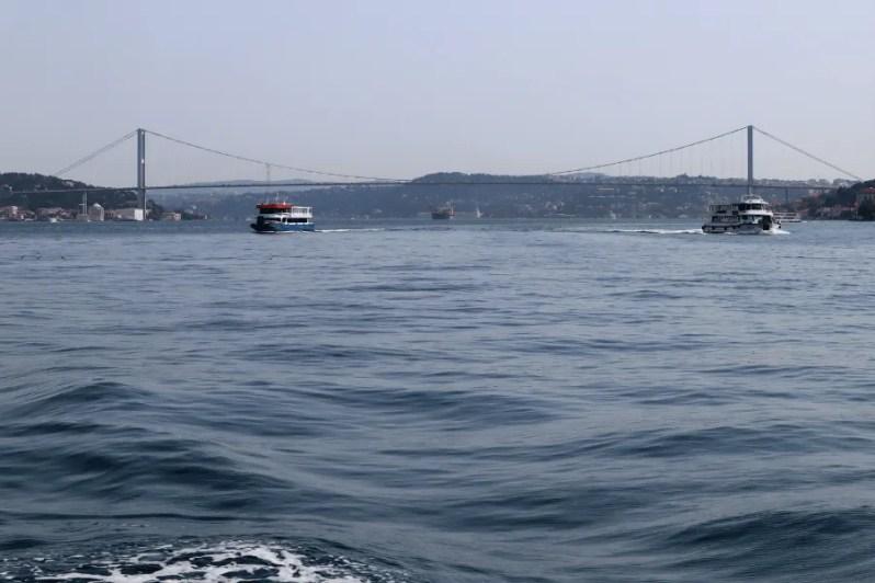 Bosporus brug in Istanbul