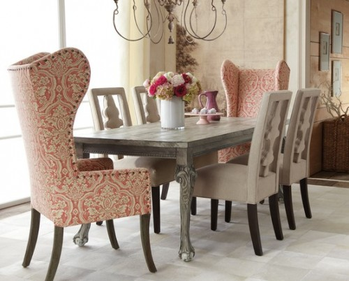 High Back Upholstered Accent Chairs