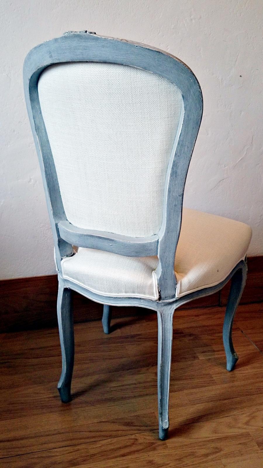 Silla vintage estilo Luis XV en gris decapado  Tienda online de decoracin y muebles personalizados