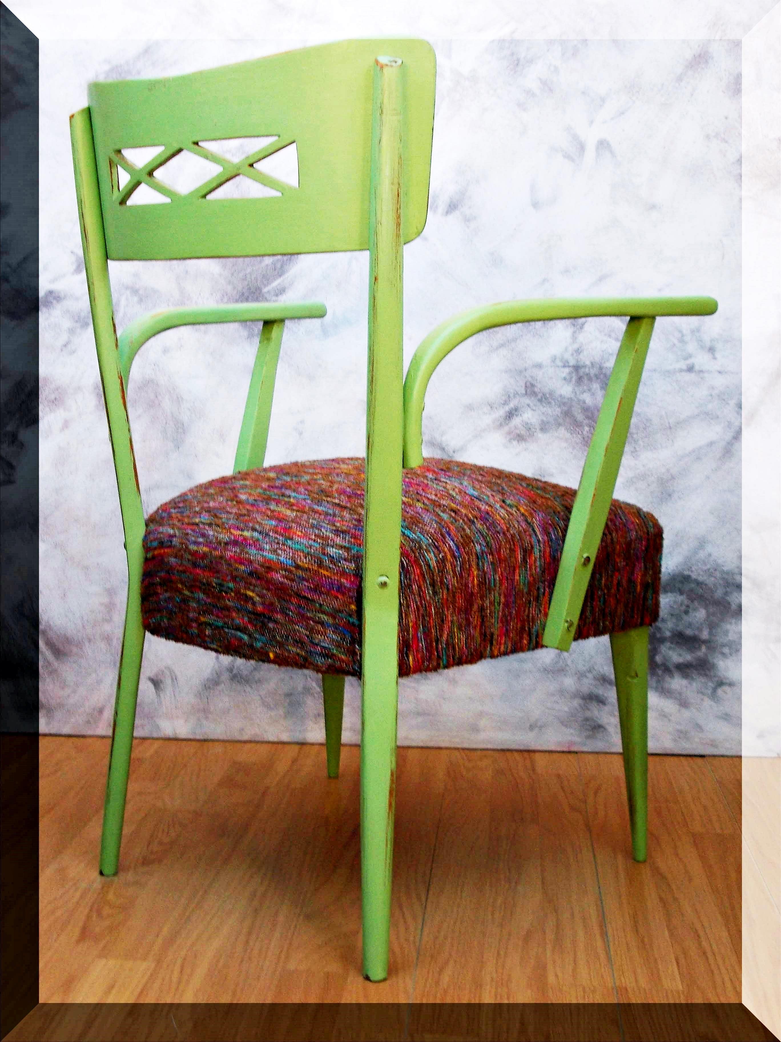 Silln vintage sesentero verde  Tienda online de