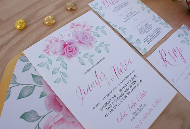 Green 16 Set Cover Printed Invitation 1 2 Pages Us 3 75
