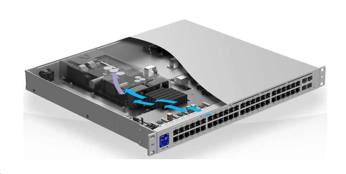 UBNT UniFi Switch USW-Pro-48-POE Gen2[48xGigabit. 600W PoE+ 802.3at/af/bt. 4xSFP+. 176Gbps] - BOHEMIA COMPUTERS