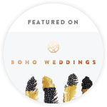 Featured on Boho Weddings - the Boho Luxe Wedding Blog