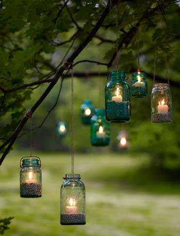 lighting ideas for an outdoor wedding