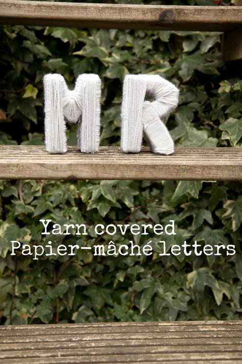 DIY Papier Mache letters