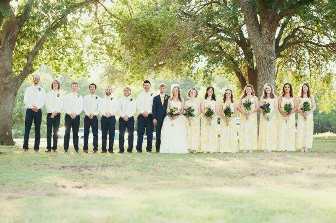 Texan Wedding the bridal party