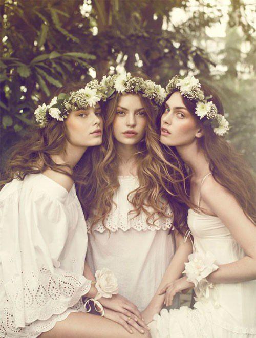 bridal style flower crowns