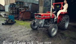 Rainy Farm Wedding