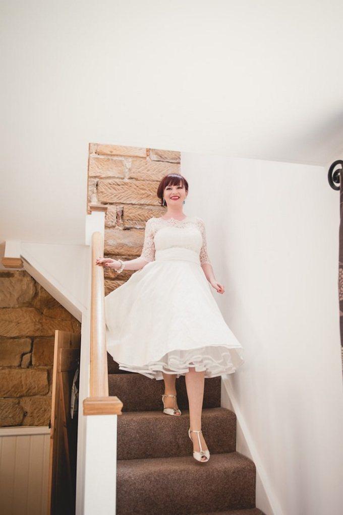 Bride in Lizzie Jayne wedding dress