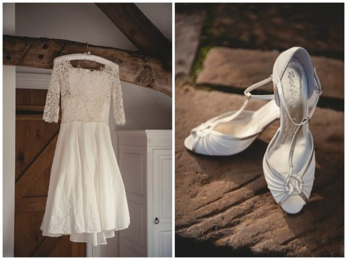 weding dress and rachel simpson shoes